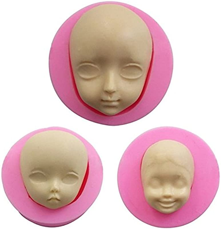 3D Baby Face Silicone Mold Cake Decorating Fondant Molds Chocolate Candy Baking Tool Sugarcraft Polymer Clay Mold