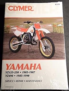 CLYMER YAMAHA 1985-1987 YZ125-250 & 1985-1990 YZ490 SERVICE MANUAL NEW M390
