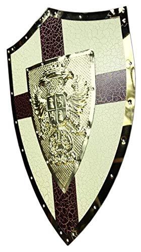 WQQLQX Statue Knight Shield Wand Hängende Dekoration, mittelalterliche Dekoration Skulptur Statue Römische Armee Rüstungsschild und Sword Rollenspiel Requisiten Modell Zubehör Skulpturen