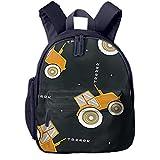 Mochilas Infantiles, Bolsa Mochila Niño Mochila Bebe Guarderia Mochila Escolar con Cool Tractor Auto para Niños De 3 A 6 Años De Edad