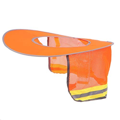 JIACUO Reflective Stripe Neck Shield Schutzhelm Cap Sonnenschutz Helme Workers Cover Summer Orange