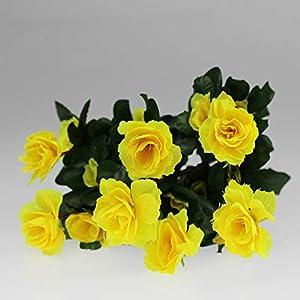 Silk Flower Arrangements GIAO Artificial Flower Home Decor Azalea Simulation Flower Bed Decoration (5Pcs)