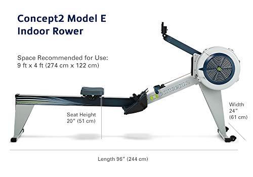 Concept2 Modell E Rudergerät Abmessungen