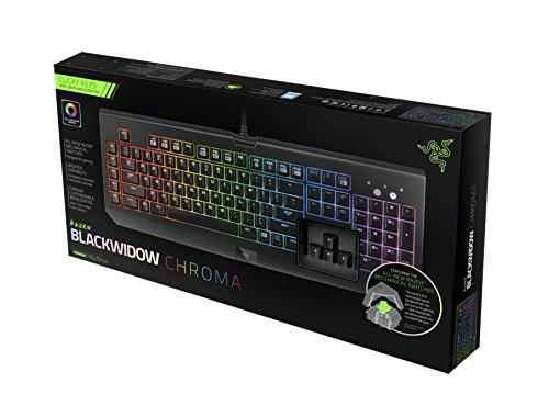 Razer BlackWidow Chroma: Clicky RGB Mechanical Gaming Keyboard - 5...