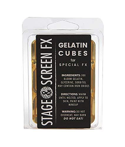 Professional FX Makeup Gelatin Cubes 4 oz. CLEAR - A Safe Alternative to Latex! FX Makeup, Skin...
