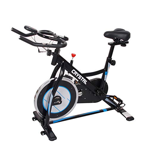 DlandHome Stationary Exercise Bike Indoor Spinning Exercise BikeIndoor Cycling Bicycle,LCD Display Bicycle Heart Pulse Trainer Bike with Belt Drive Vélo Stationnaire Indoor Cycling Trainer Exercise Bike, DCA-SJ-3366-7