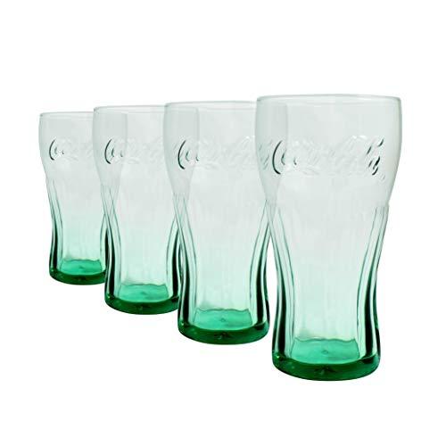 Coca Cola - Verres verts pour Coca, 460 ml - Lot de 4 |