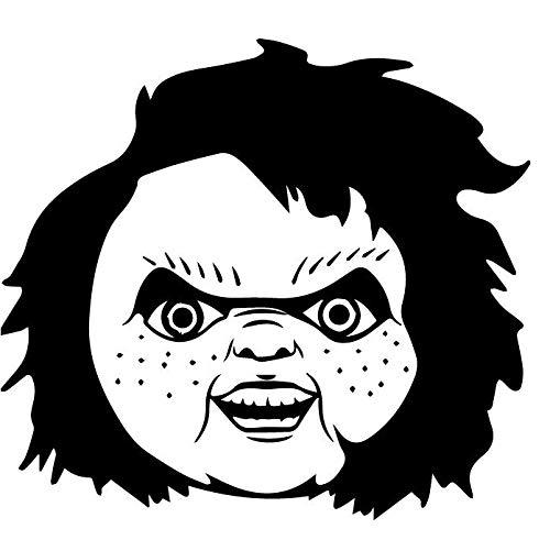 SUPERSTICKI Chucky die Mdemo pop Horror 20cm sticker, autosticker, stickers, decal, muurtattoo, van high-performance folie, UV- en wasstraatbestendig,