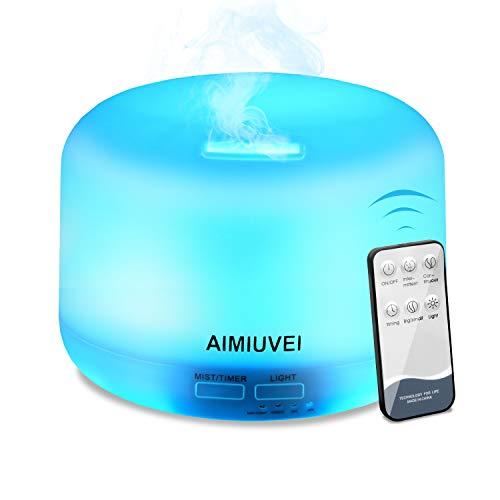 Humidificador Aromaterapia Ultrasónico con Control Remoto, AIMIUVEI D