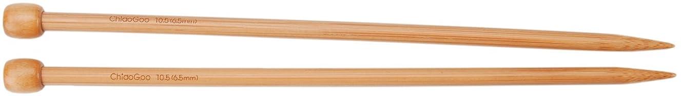 ChiaoGoo 13-Inch Single Point Dark Patina Knitting Needles, 13/9mm