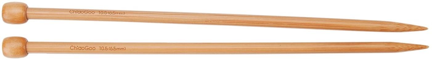 CHIAOGOO 13-Inch Single Point Dark Patina Knitting Needles, 15/10mm