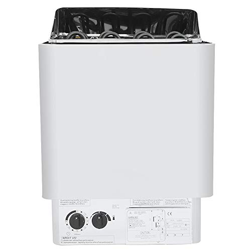 Weiyiroty Saunaheizofen, 6KW Edelstahl-Saunaofen, Digitale interne Steuerung Saunaofenheizung Sauna-Dampfgarer mit hoher Heizleistung für Dampfbad-Badezimmerausrüstung