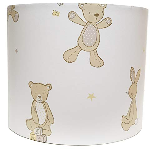 Teddy Bear Lampshade or Ceiling Light Shade Drum Kids Nursery Bedroom Accessories Gift Hugs (10')
