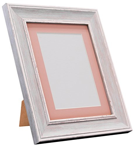 Frames By Post Scandi Vintage fotolijst Roze passe-partout 10 x 8 Inches Image Size A5 Distressed Blue
