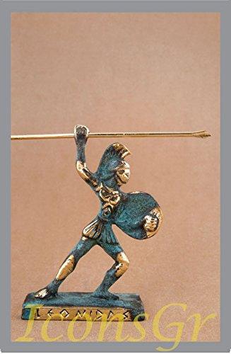Griego antiguo Bronce Museo Estatua réplica de leónidas de Esparta King Size (150)