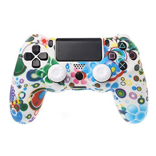 planuuik Beschermende Cover Gamepad Hoes Zachte Siliconen Huid Analoge Duim Grip JoyStick Cap Anti-Slip voor PlayStation 4 PS4 Draadloze Controller
