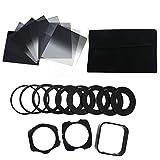 Create Idea 21 in 1 Densidad neutra Graduel Completo ND Filtro cuadrado portafiltro caja adaptador anillo set para Cokin