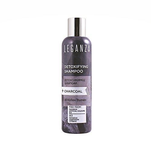 Leganza Detox Shampoo mit Aktivkohle Tiefenreinigung ohne Sulfate ohne Parabene Alle Haartypen