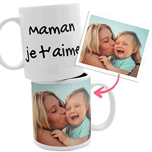 Tasse personnalisée avec photo et texte. Cadeau original personnalisé (Photo et Texte)