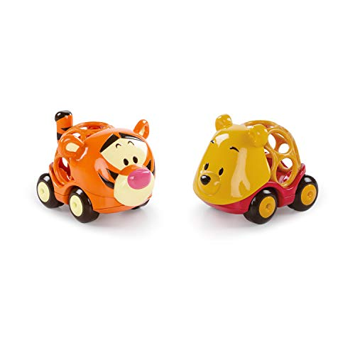 Bright Starts, Disney Baby, Winnie Puuh Go Grippers Autos aus robustem, leicht greifbarem Material, perfekt für unterwegs, ab 12 Monaten