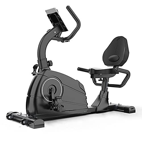 Bicicleta estática para interiores compatible con Bluetooth, bicicletas de ciclismo de conexión inteligente con monitor de frecuencia cardíaca, bicicleta de ejercicios estacionaria con transmisión po