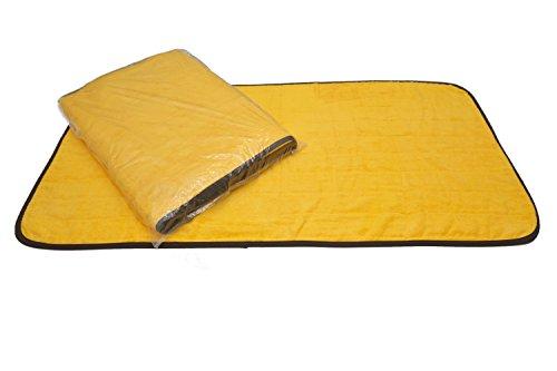 丸繊(Marusen)サウナマット2000匁 業務用 スレン染 ゴールド(オレンジ) 70×140cm 5枚入