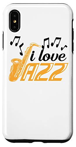 iPhone XS Max I Love Jazz Music | Cute Soprano Saxophonists Fan Funny Gift Case