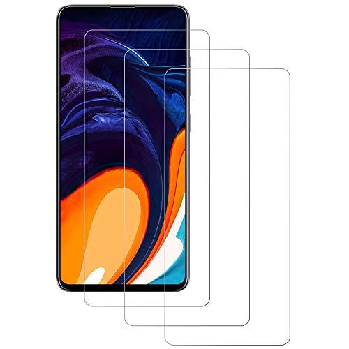 PUUDUU Cristal Templado para Samsung Galaxy A51, [3 Piezas] Película Protectora de Vidrio Templado de Cobertura Completa Curvada 9H, Resistente a Los Arañazos, Sin Burbujas, Samsung Galaxy A51