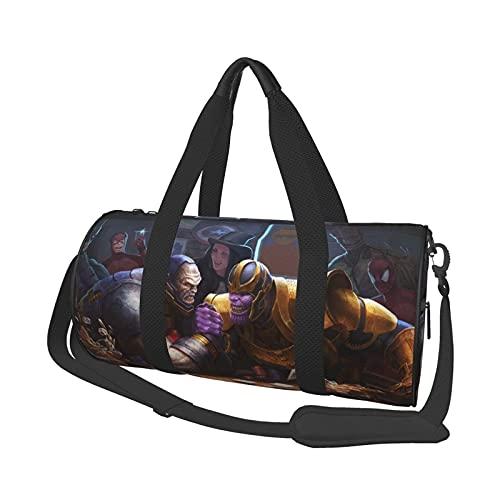 Darkseid - Bolsa de viaje redonda con estilo deportivo, gimnasio, bolsa de viaje para hombres y mujeres. Se puede utilizar para senderismo, vacaciones, negocios, deportes, viajes, playa, entrenamiento