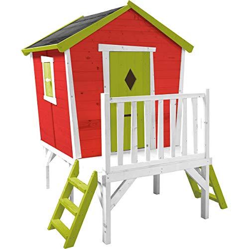 SOULET Spielhaus'Pauline'mit Podest Garten Holzhaus Kinderspielhaus Stelzenhaus