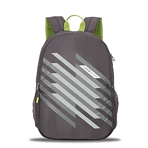 Lavie Sport Charge 34 Ltrs Casual Backpack   School College Bag for Boys & Girls (Dark Grey)