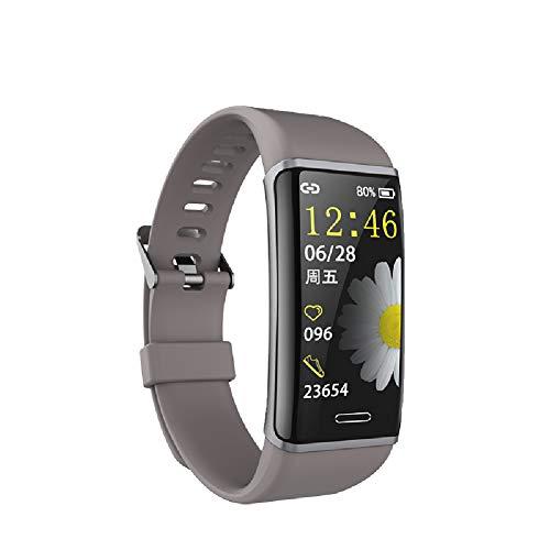 Laufsportarmband für Herren und Damen, Smartwatch, Wetter mit quadratischem Bildschirm, Gesundheitstest S909 8-stufiges wasserdichtes Multifunktionsarmband, geeignet für Android IOS-System-Brown