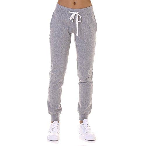Champion Damen Jogginghose Rib Cuff Pants, Oxford Grey, S