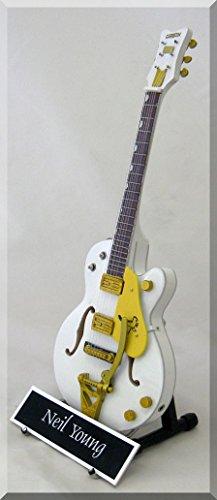 Neil Young miniatura Guitarra Gretsch Falcon personalizable con nombre