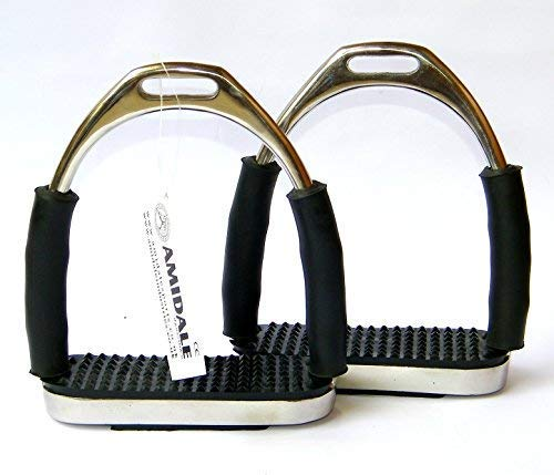 Amidale Four Way Flexi Safety Stirrups Iron S/S Four Way Movement 4.5 Inches