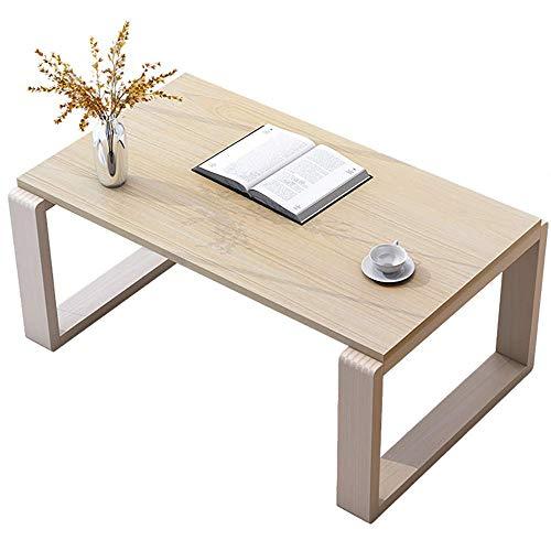 Mesa rectangular pequeña Dormitorio de madera Ventana flotante Mesas bajas Escritorio para computadora portátil sobre la cama simple Sala de estar casera moderna Café Té Consola de TV (Color: Wood col