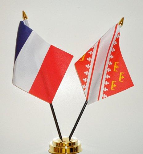 1000 Flags France et Alsace l'amitié Drapeau de Table écran 25 cm (25,4 cm)