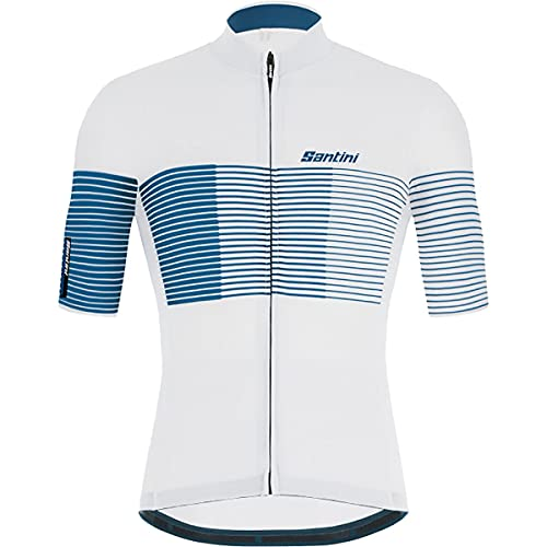 Santini Maglia Ciclismo Uomo Tono Freccia (XL, Silver Bullet)