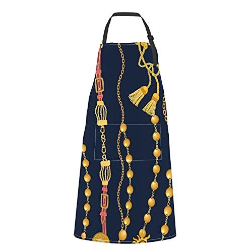 Mode Beau Collier Bijoux Tabliers De Cuisine Pour Hommes Mode Beau Collier Bijoux Cravate Réglable Avec Poches Pour Adulte