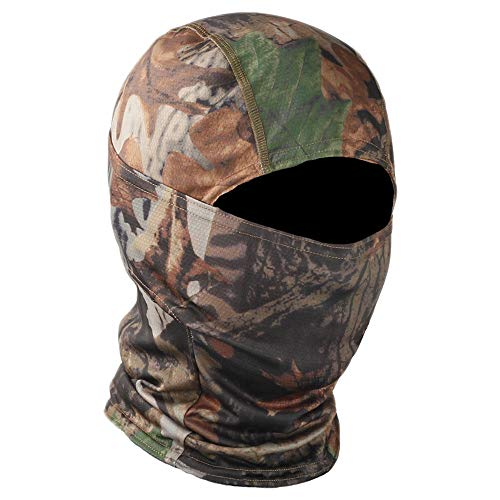 TClian Camo Balaclava Full Face mask Ninja Hood Neck Gaite Millitary (Woodland)