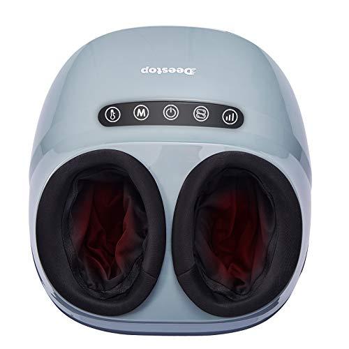 Deestop Foot Massager Machine Shiatsu Feet Massage with Heat Kneading Rolling for Home Office Use