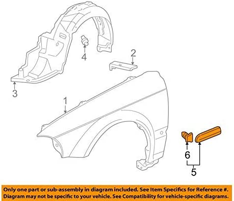 Honda Genuine trend rank 75301-S04-A11ZF Inexpensive Fender Protector