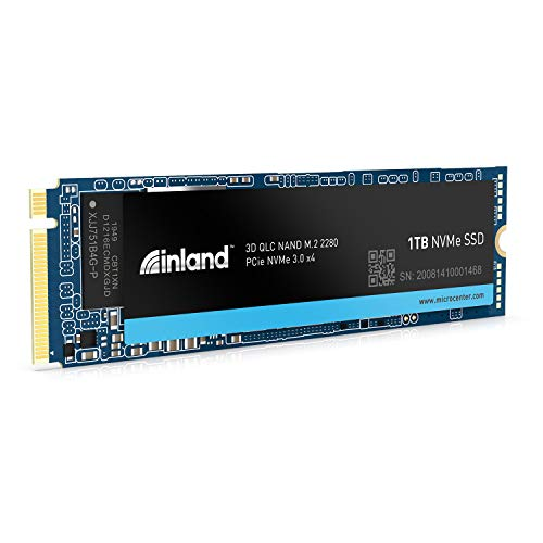 Inland Platinum 1TB SSD M.2 2280 NVMe PCIe Gen 3.0x4 3D NAND Internal Solid State Drive, R/W up to 3400MB/s and 1900MB/s, PCIe Express 3.1 and NVMe 1.3 Compatible, Ultimate Gaming Solutions (1TB)
