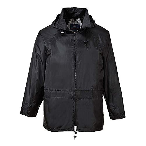 Portwest Mens Classic Rain Jacket (S440) (XL) (Black)