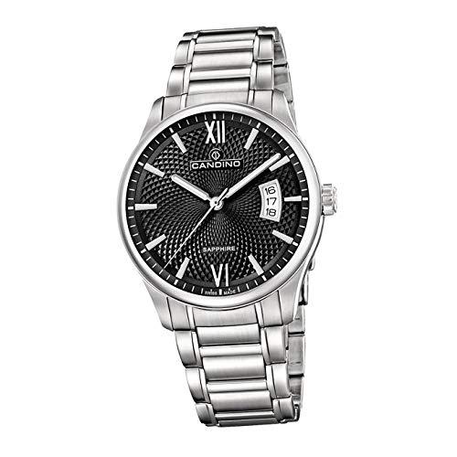 Candino Reloj de pulsera para hombre C4690/3, elegante, analógico, de acero inoxidable, plateado, D2UC4690/3, un regalo para Navidad, cumpleaños, día de San Valentín para el hombre