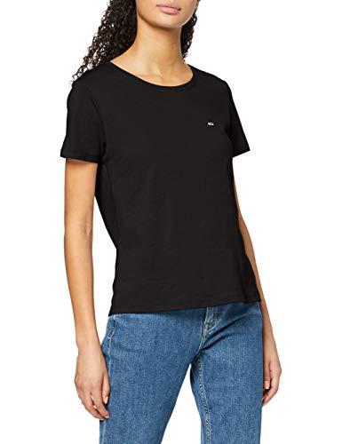 Tommy Jeans Damen Tjw Soft Jersey Tee Hemd, Schwarz (Black), XS