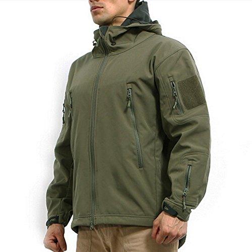 Reebow Gear Taktische Jacke mit Reißverschluss, aus Fleece, Herren, JKV4, armee-grün, xl