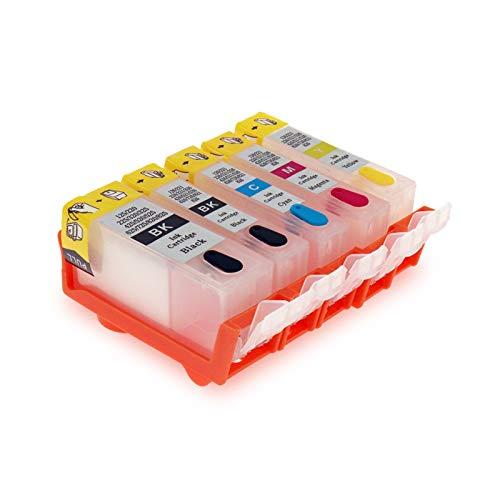 Ser aplicable PGI525 PGI 525 CLI 526 Cartucho de Tinta Recargable para C-Anon IP4850 IP4950 IX6550 MG5150 MG5250 MG5350 MX715 MX885 MX895 ETC Material de Oficina
