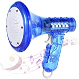 PROLOSO Multi Voice Changer for Kids with 10 Different Voice Modifiers Light Up Effects Megaphone Toy Party Favors (Blue, Large)