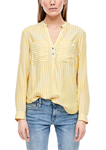 Q/S designed by - s.Oliver Damen 510.12.002.10.100.2005619 Bluse, Yellow Stripes, 40